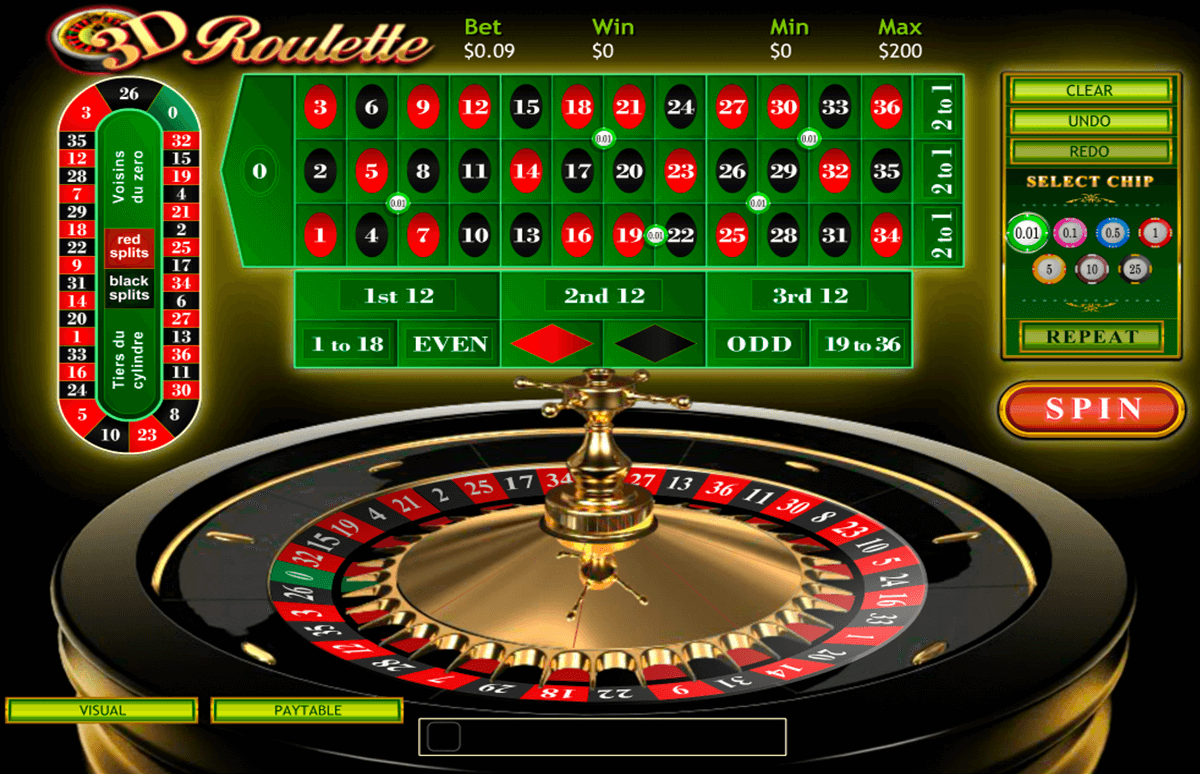 3d roulette playtech
