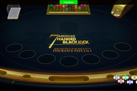 handed blackjack concept gaming