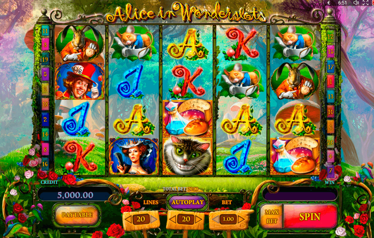 alice in wonderslots playson