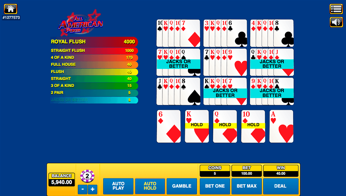 all american poker habanero