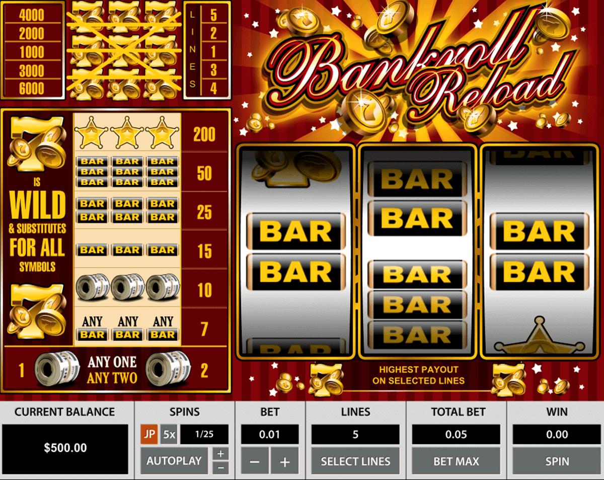 bankroll reload pragmatic