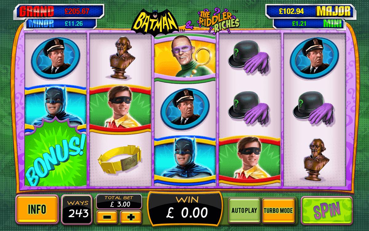 batman the riddler riches playtech