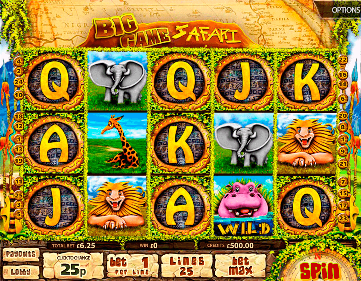 big game safari multislot