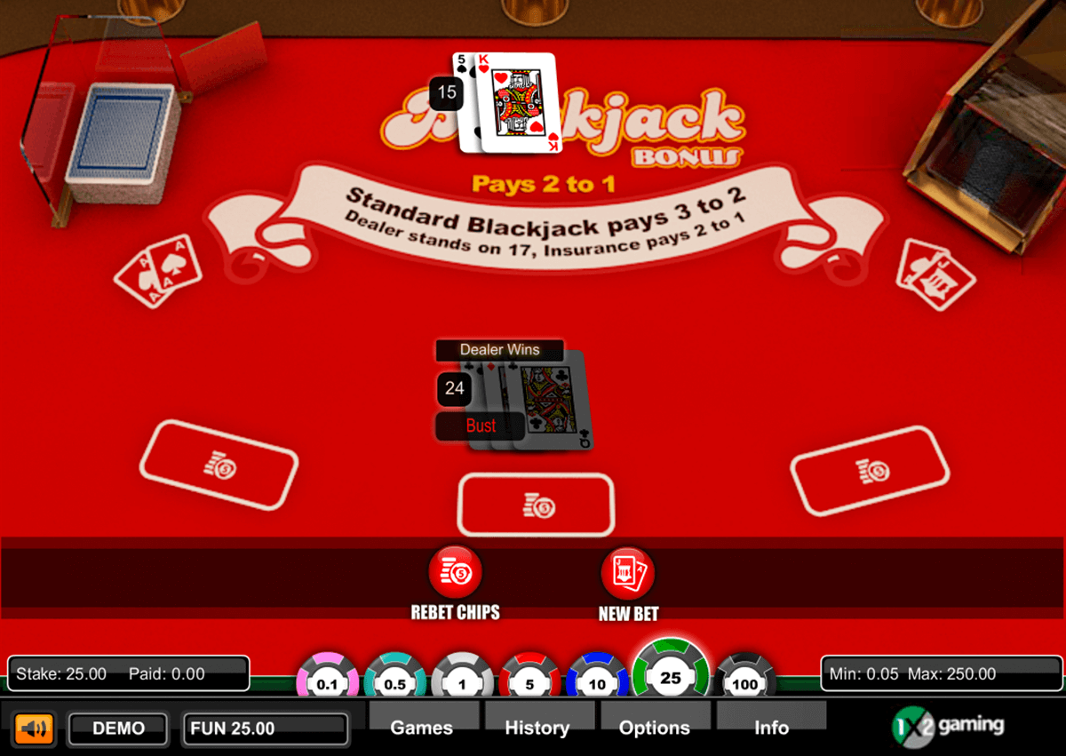 blackjack bonus gaming