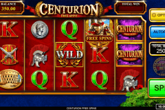centurion free spins inspired gaming