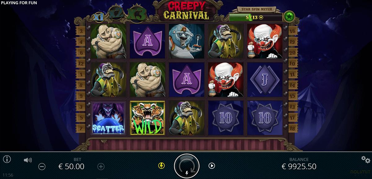 creepy carnival nolimit city