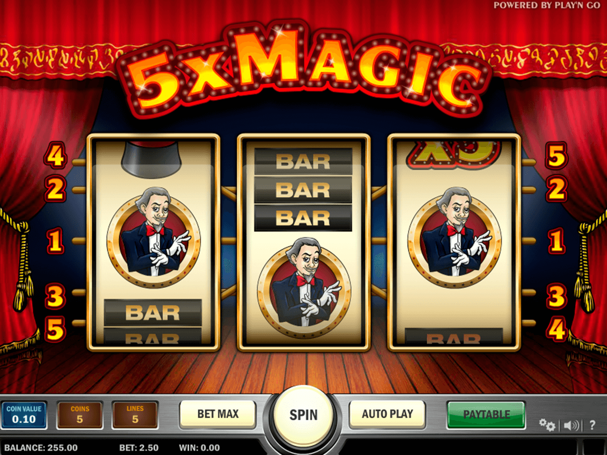 5x magic playn go spelautomat