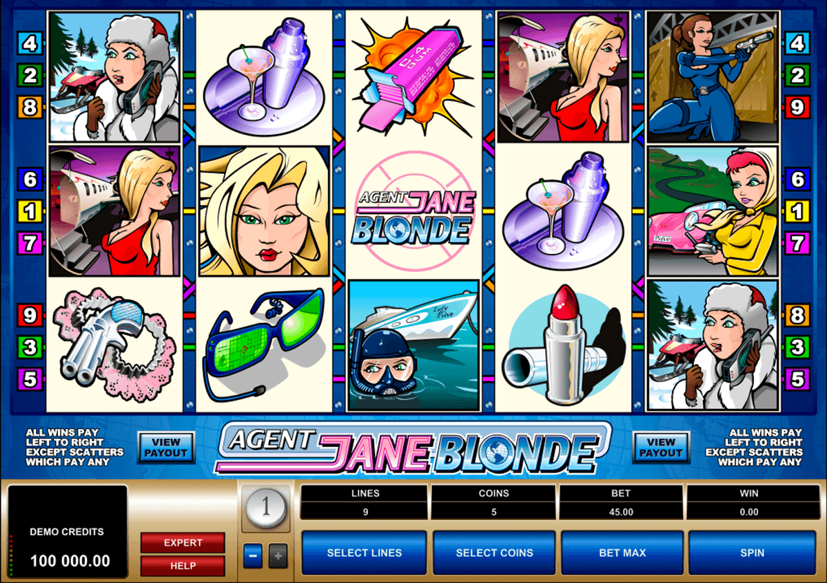 agent jane blonde microgaming spelautomat