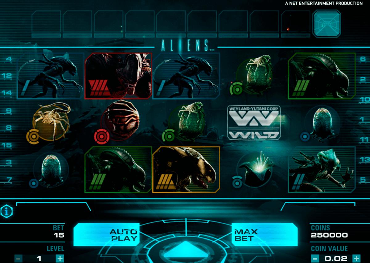 aliens netent spelautomat
