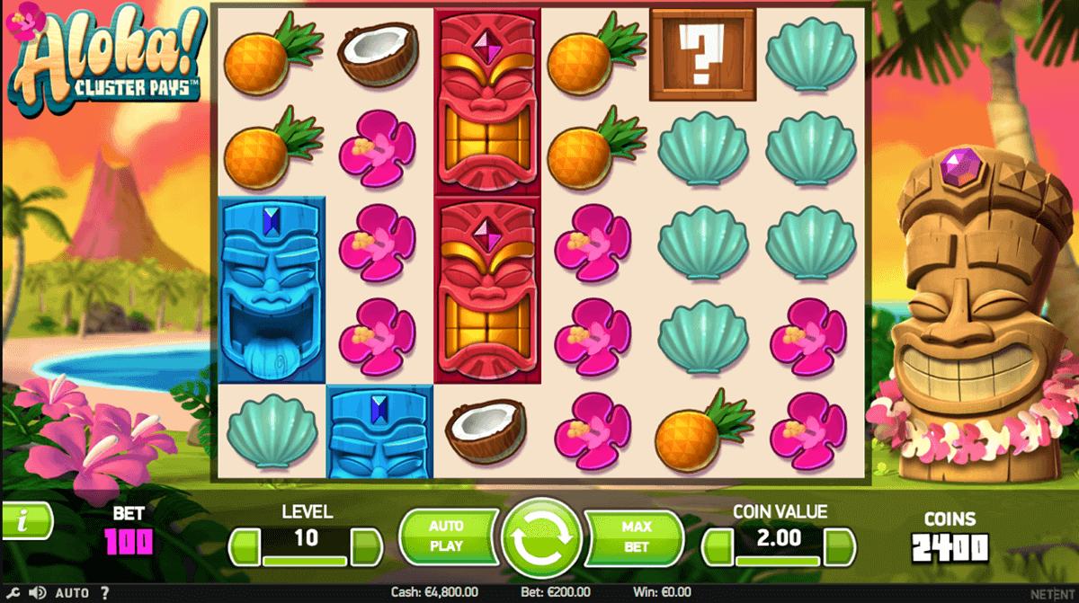 aloha cluster pays netent spelautomat
