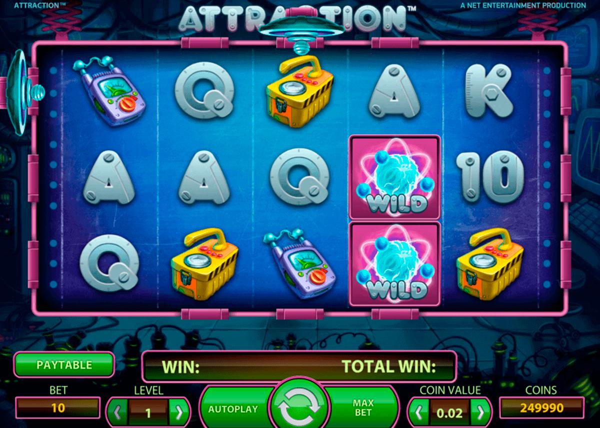 Attraction Spelautomat | NetEnt Casino Slot | Spela Gratis