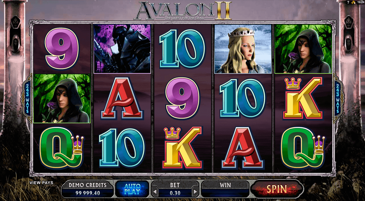 avalon ii microgaming spelautomat