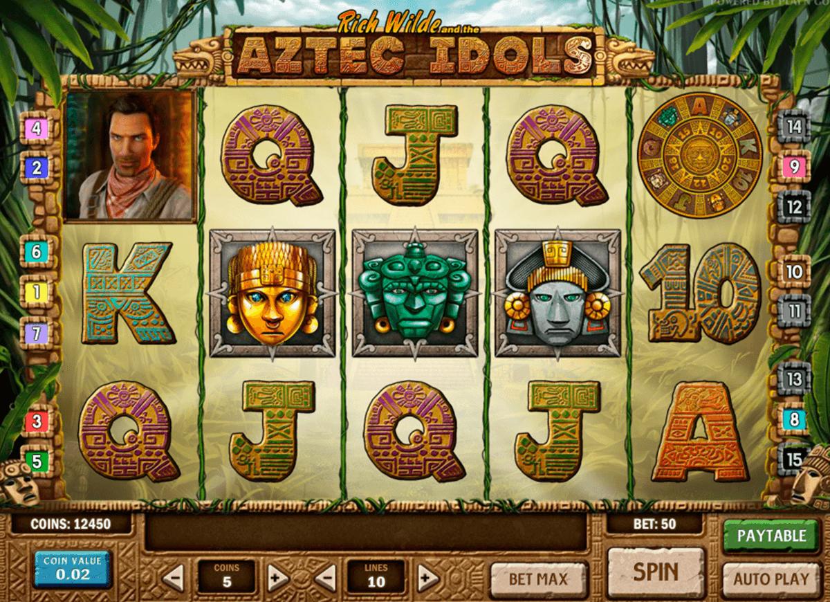 aztec idols playn go spelautomat