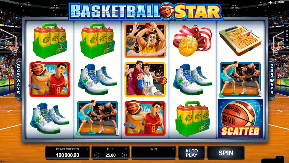 basketball star microgaming spelautomat