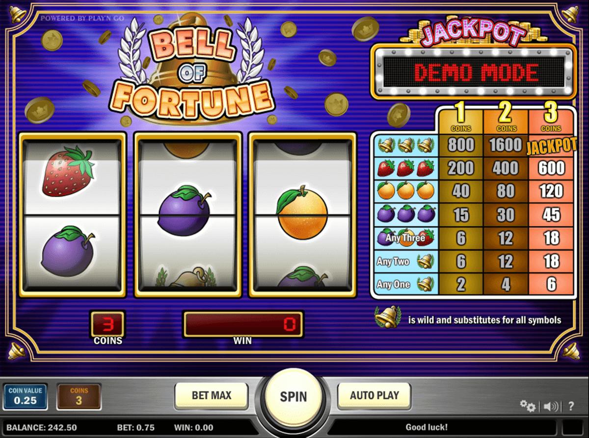 bell of fortune playn go spelautomat