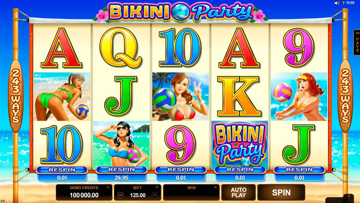bikini party microgaming spelautomat