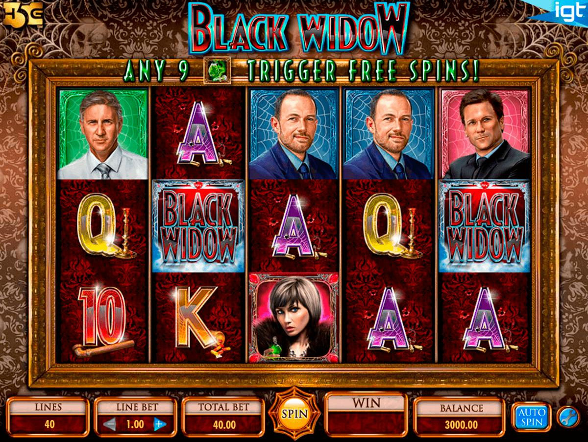 black widow igt spelautomat