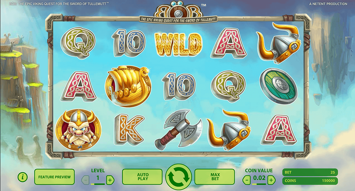 Bob the Epic Viking Quest Spielautomat - Gratis NetEnt Slots