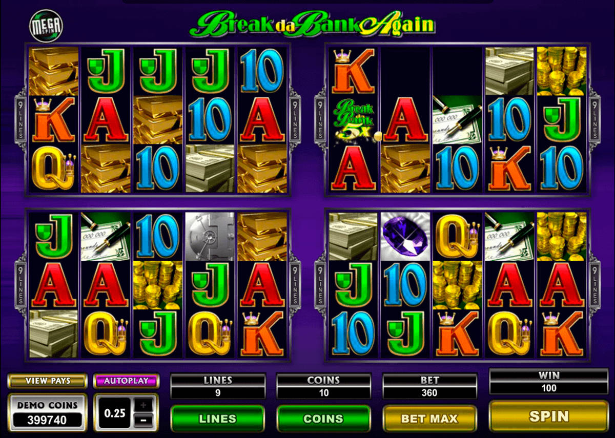break da bank again megaspin microgaming spelautomat