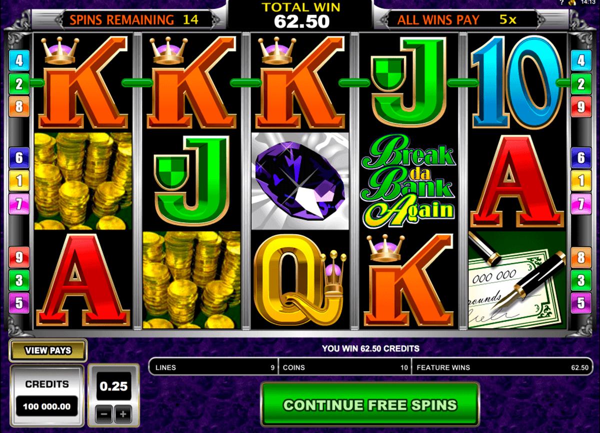 break da bank again microgaming spelautomat