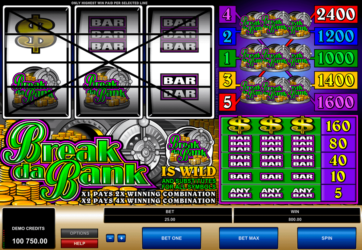 break da bank microgaming spelautomat