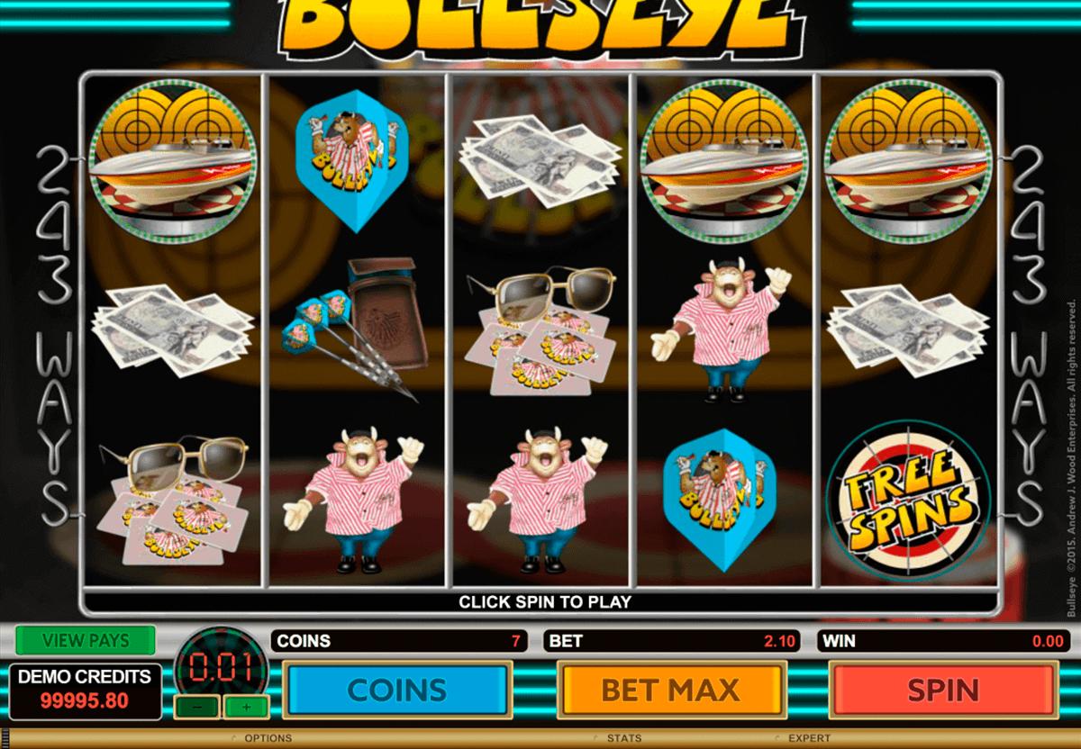 bullseye microgaming spelautomat
