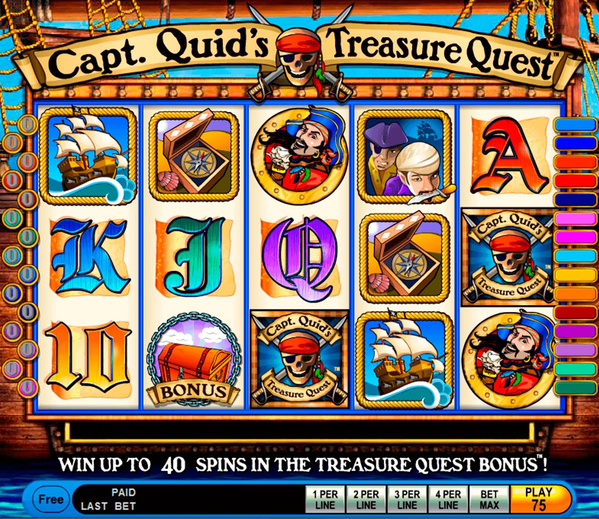 capt quids treasure quest igt spelautomat