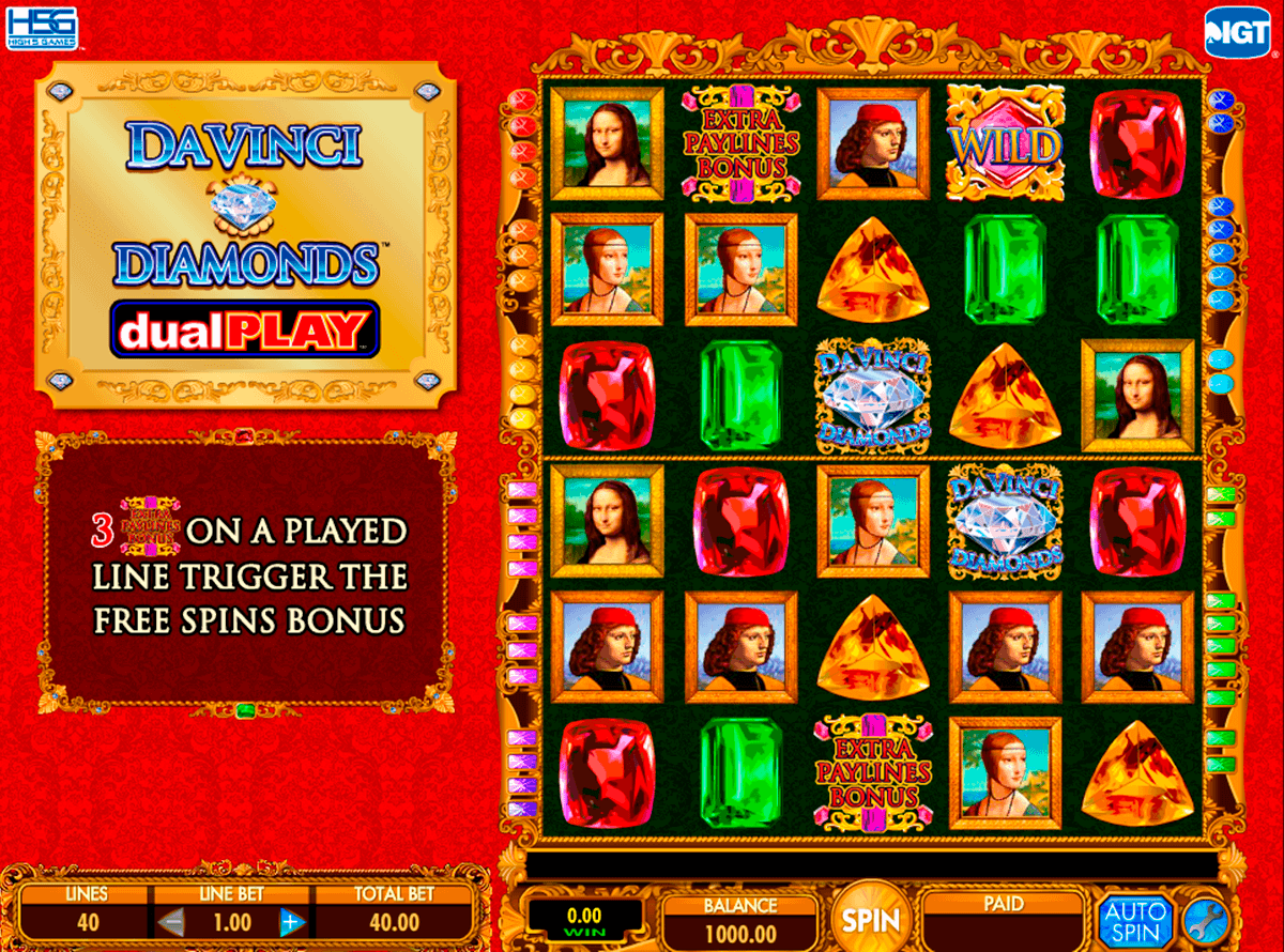 Da Vinci Diamonds Dual Play slots - spela casinospel online