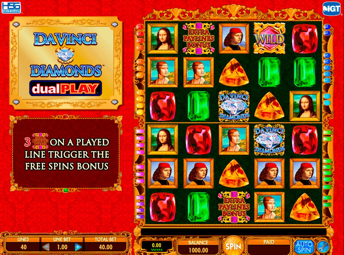 da vinci diamond dual play igt spelautomat