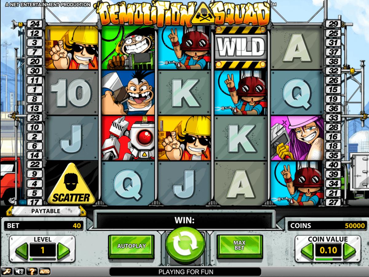 demolition squad netent spelautomat