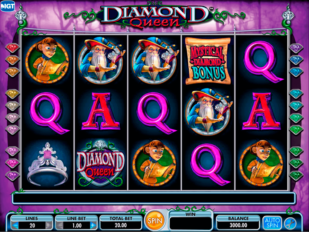 diamond queen igt spelautomat