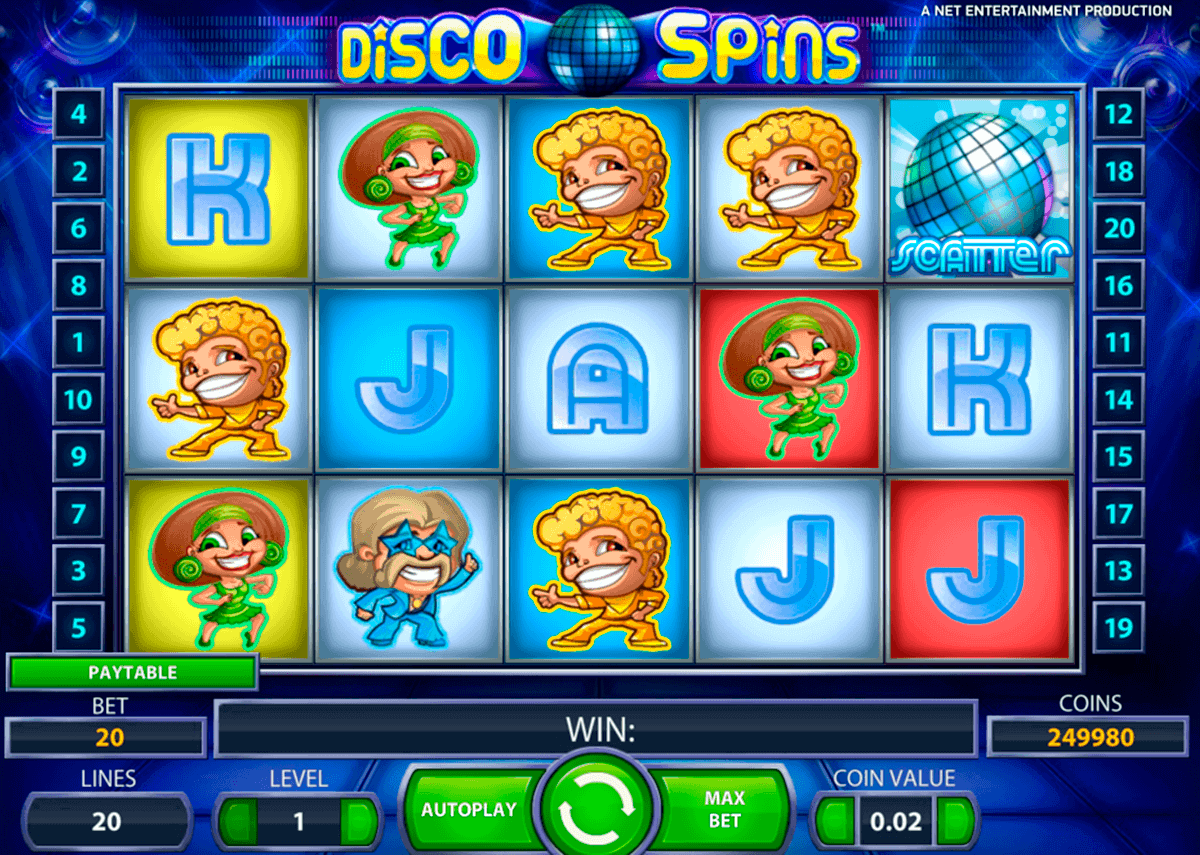 disco spins netent spelautomat