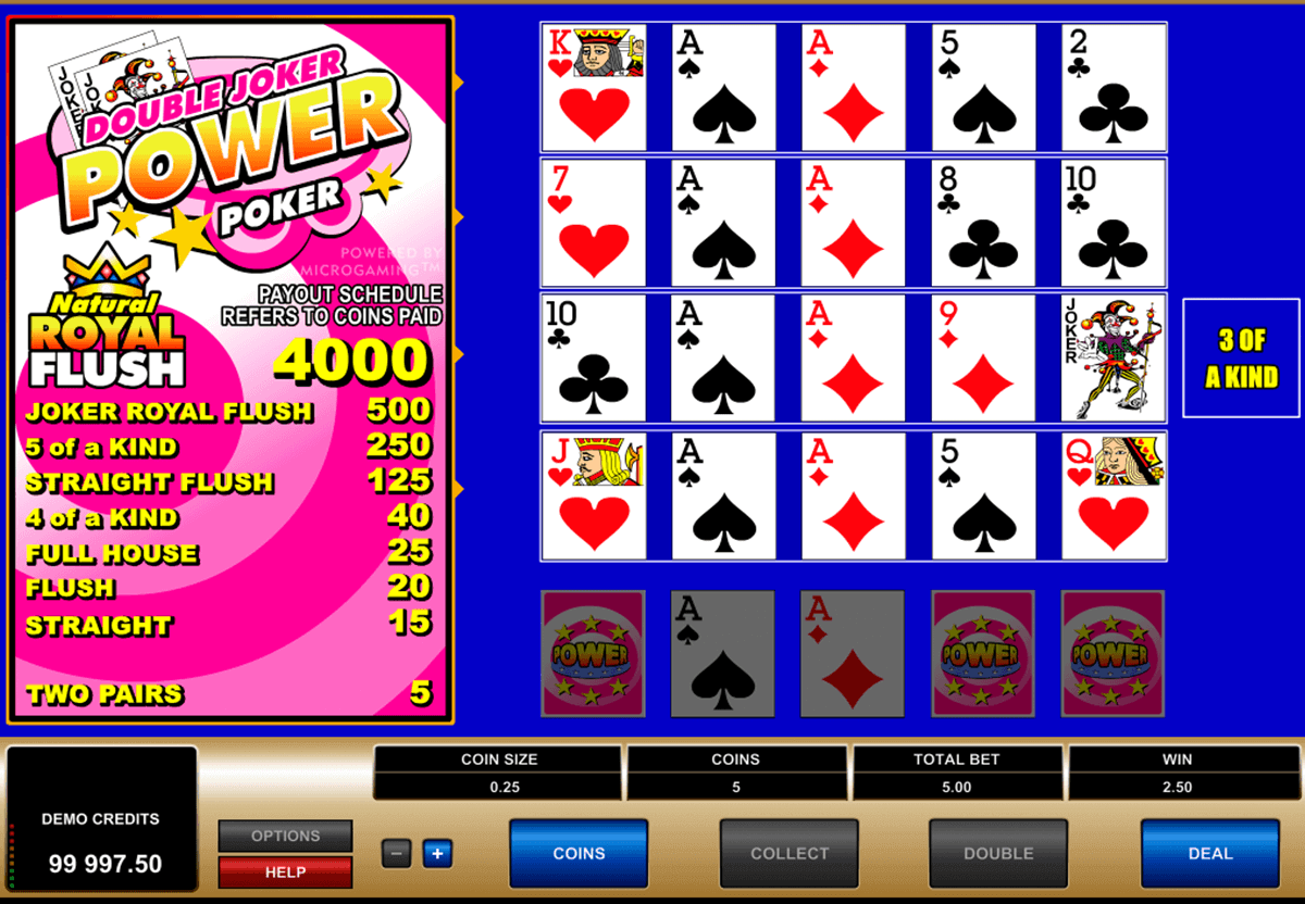 double joker  play power poker microgaming video poker