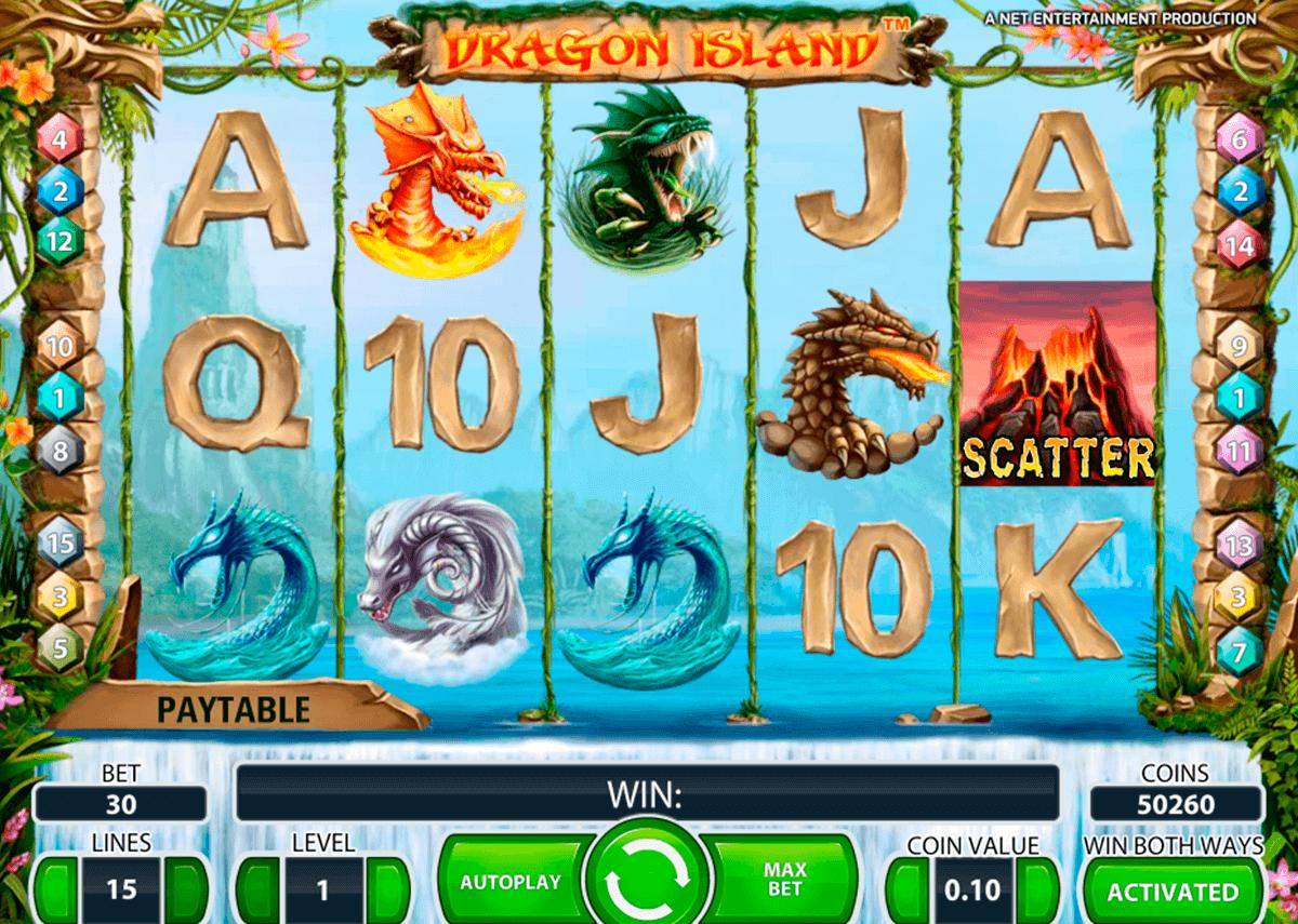 dragon island netent spelautomat