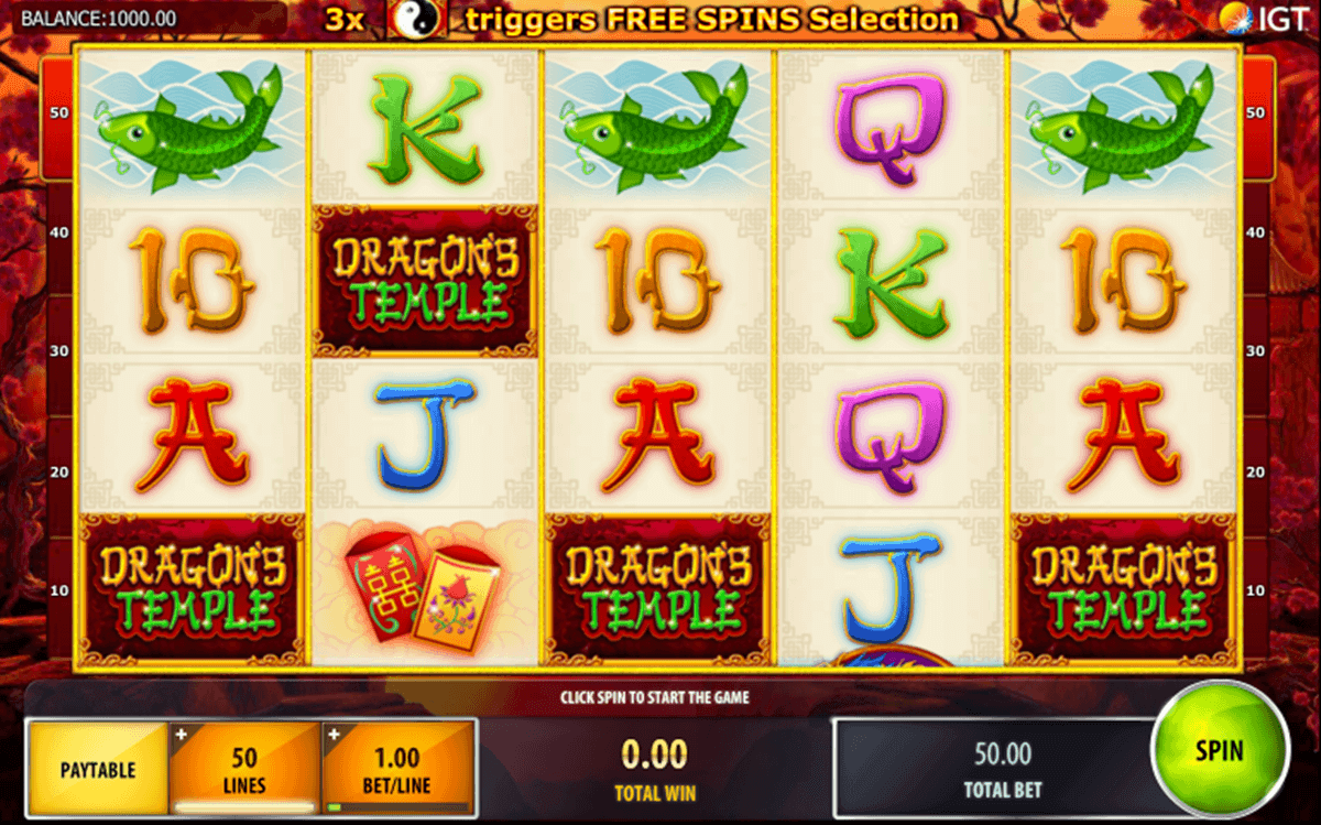 dragons temple igt spelautomat