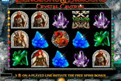 dungeons and dragons crystal caverns igt spelautomat