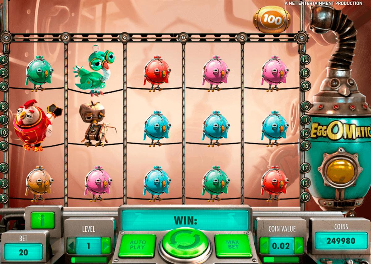 eggomatic netent spelautomat