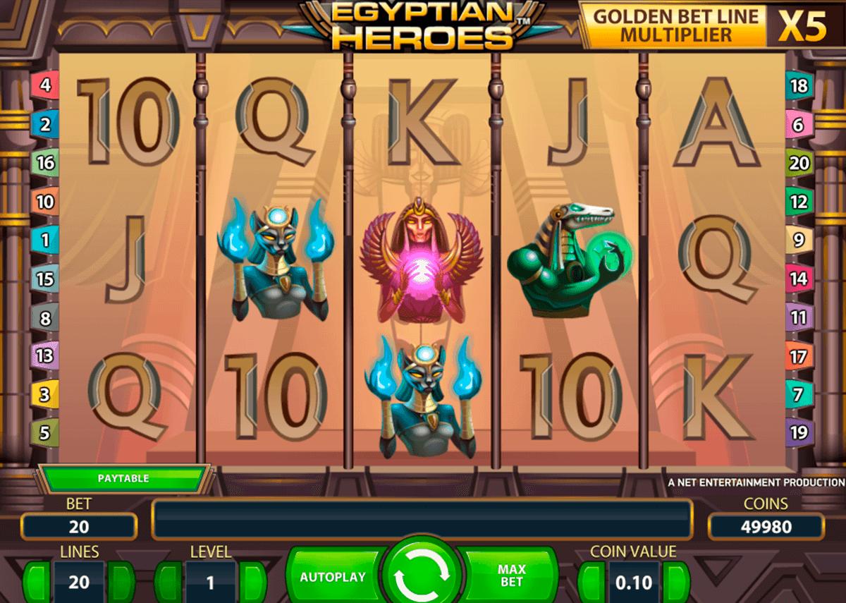egyptian heroes netent spelautomat
