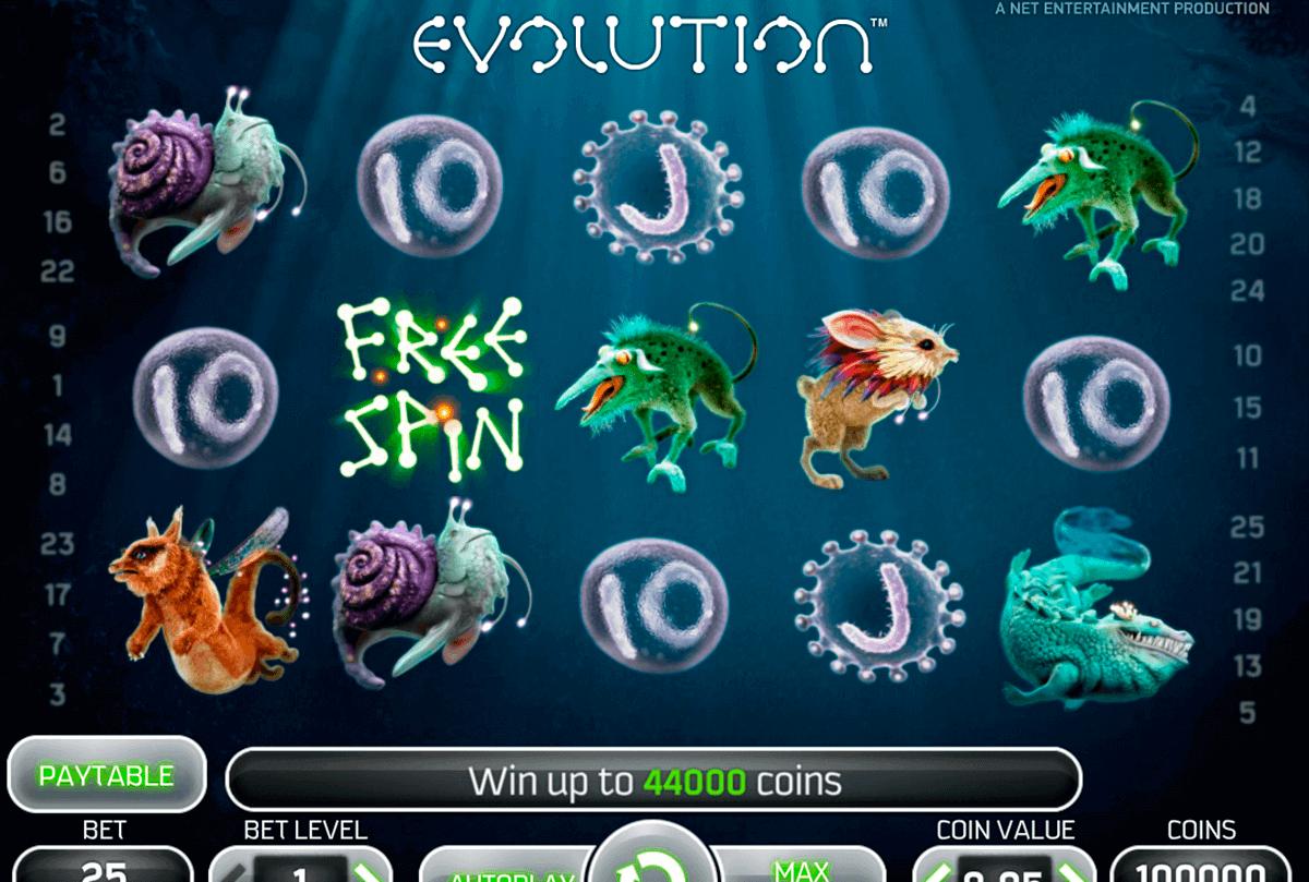evolution netent spelautomat