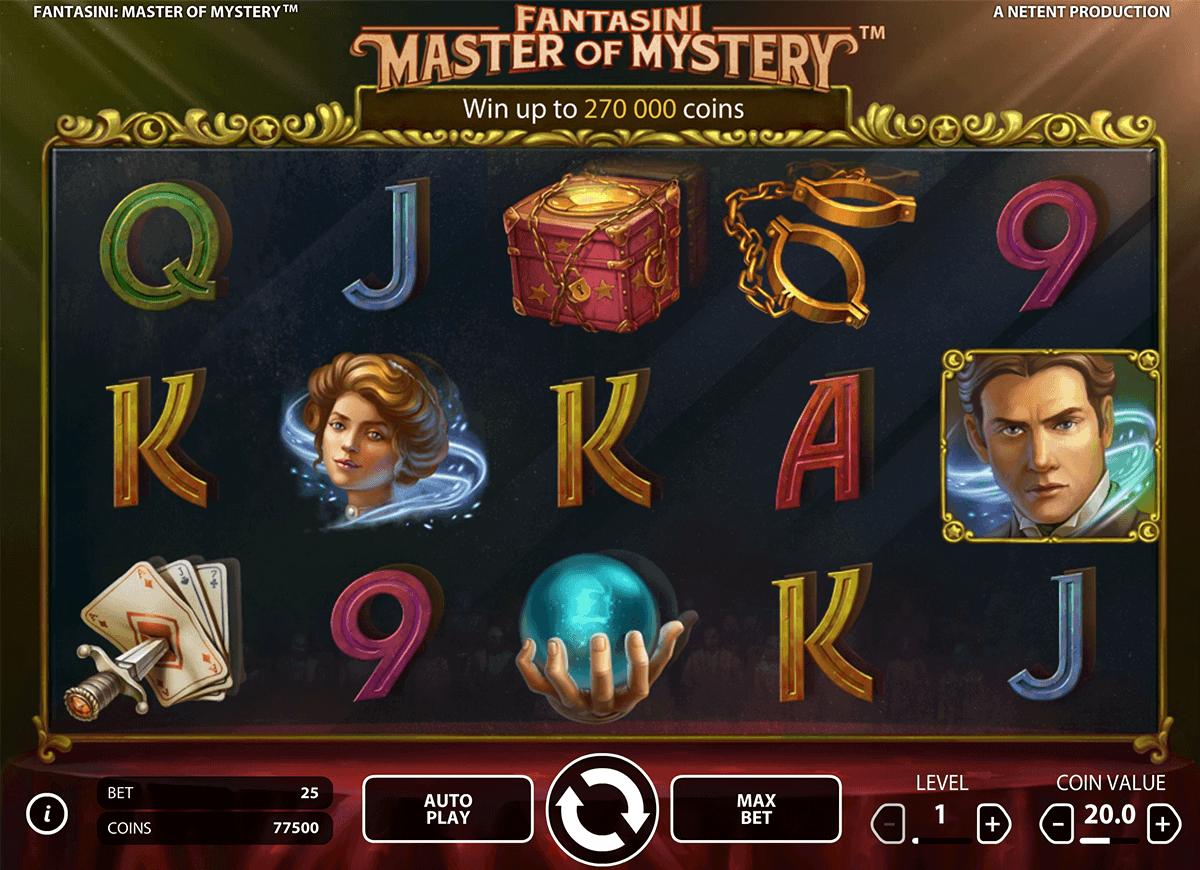 fantasini master of mystery netent spelautomat