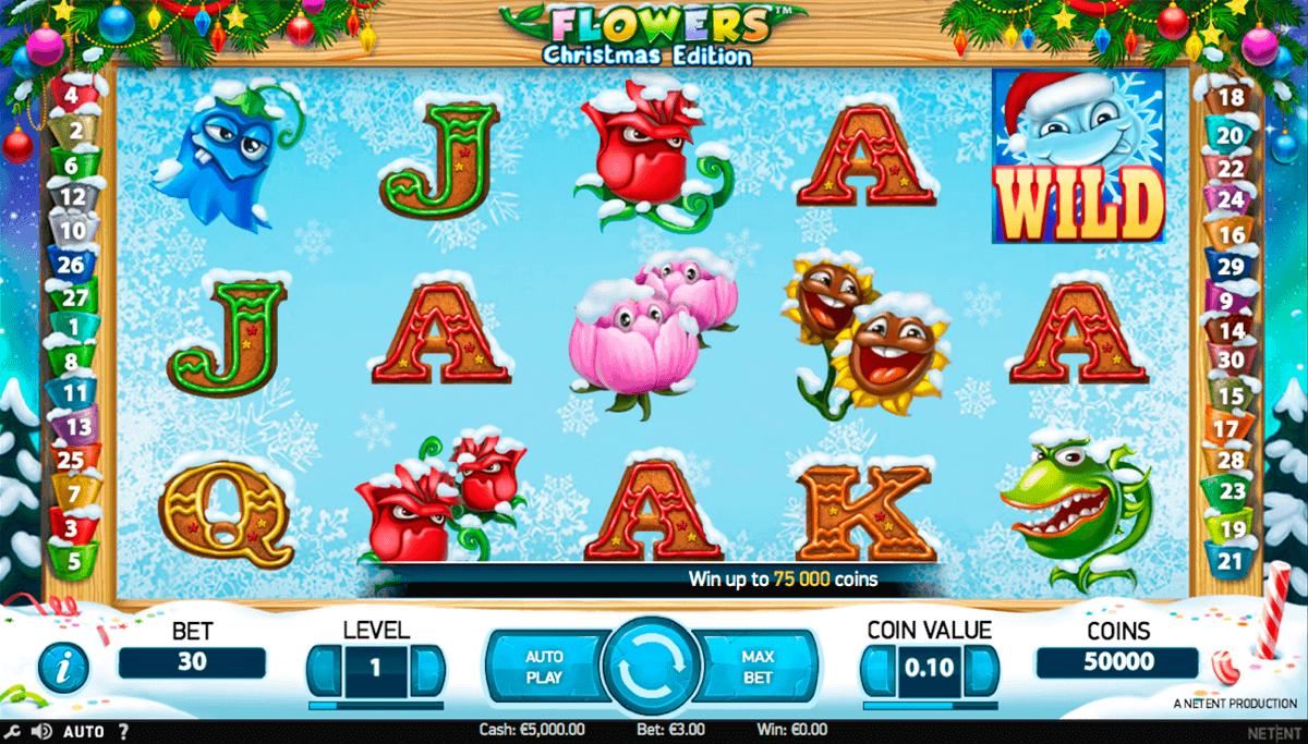 flowers christmas edition netent spelautomat