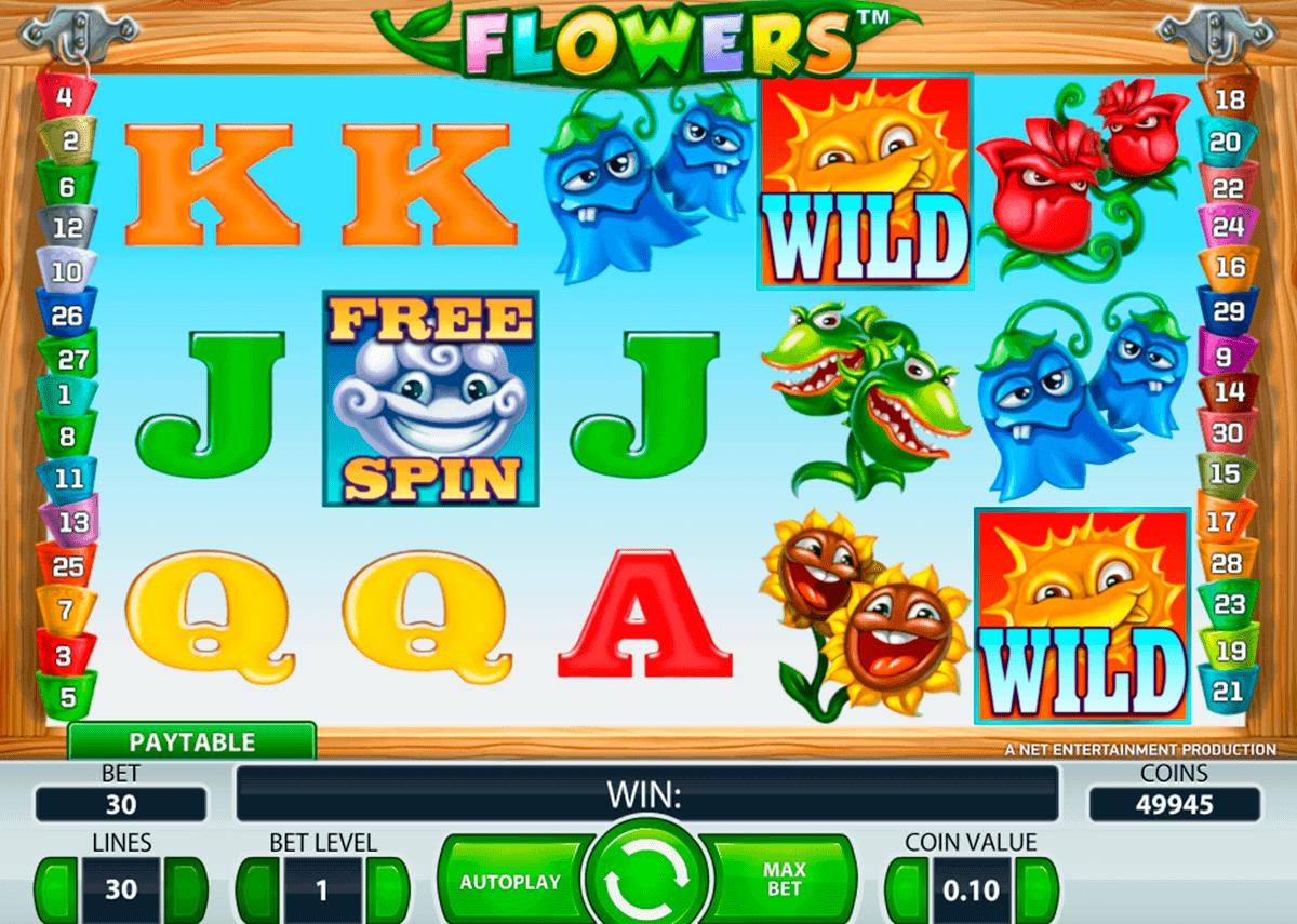 flowers netent spelautomat