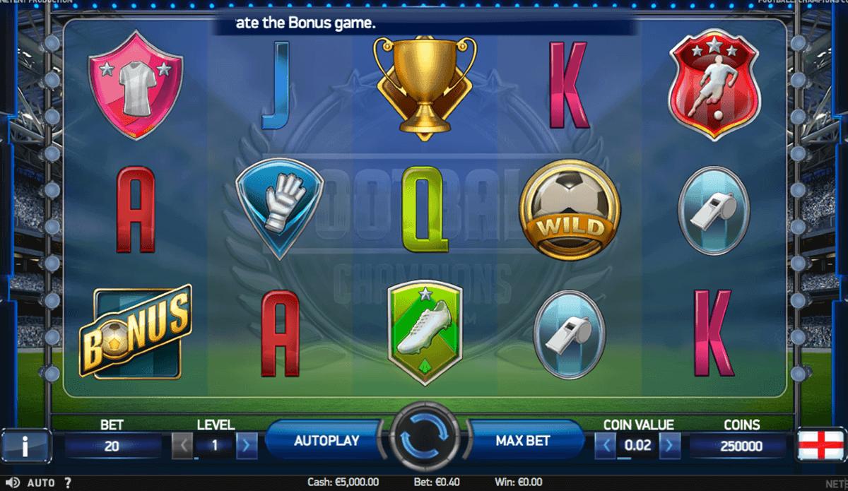 football champions cup netent spelautomat