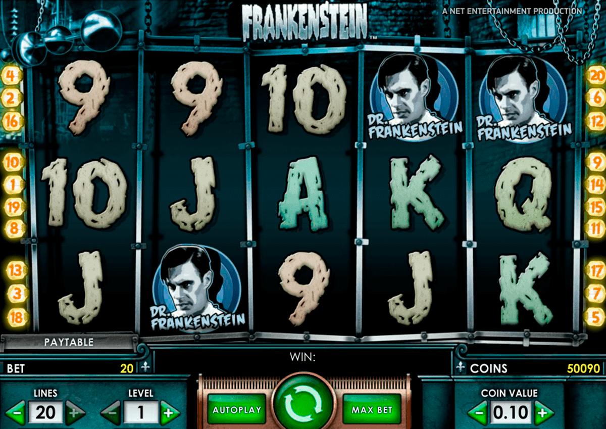 frankenstein netent spelautomat