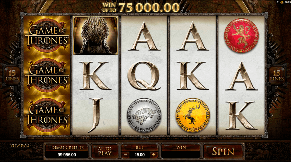 game of thrones  lines microgaming spelautomat