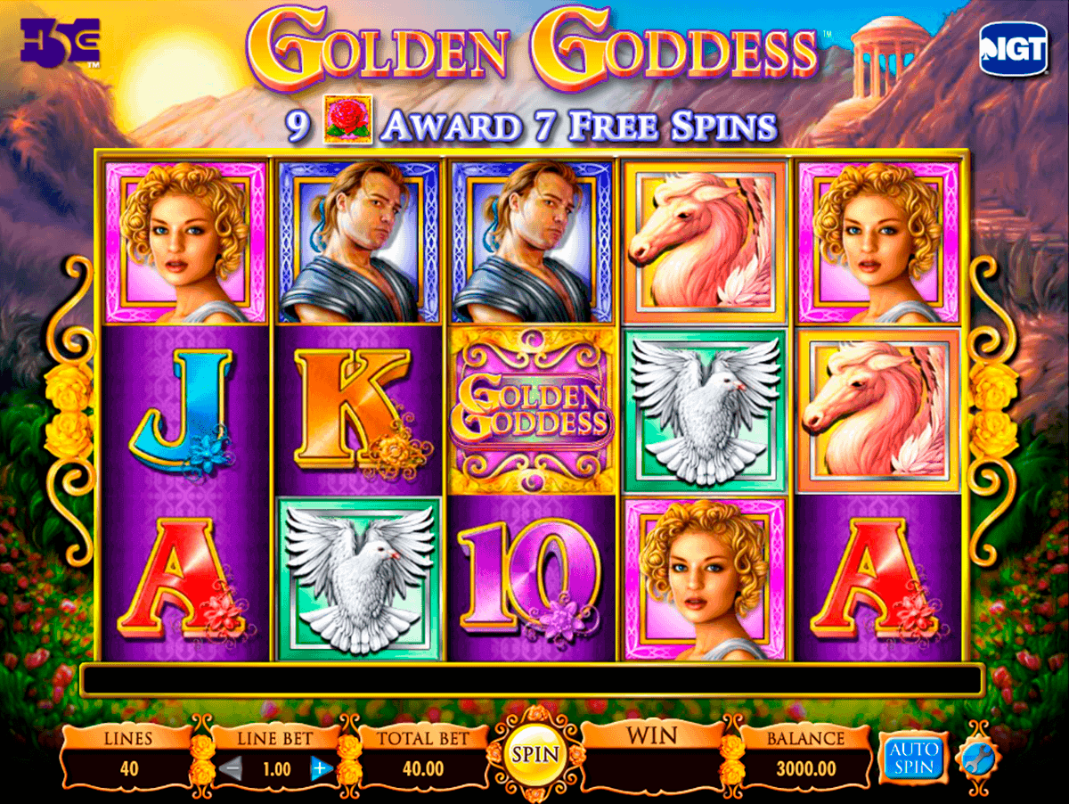golden goddess igt spelautomat