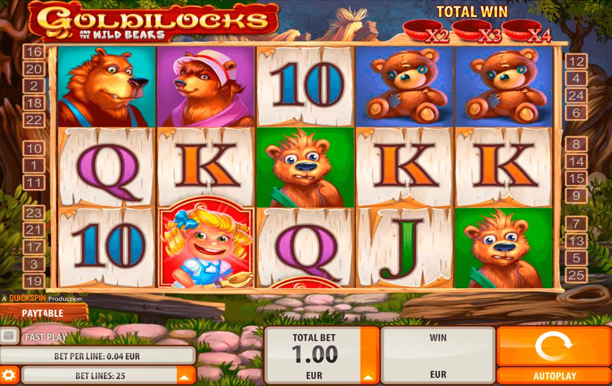 goldilocks quickspin spelautomat