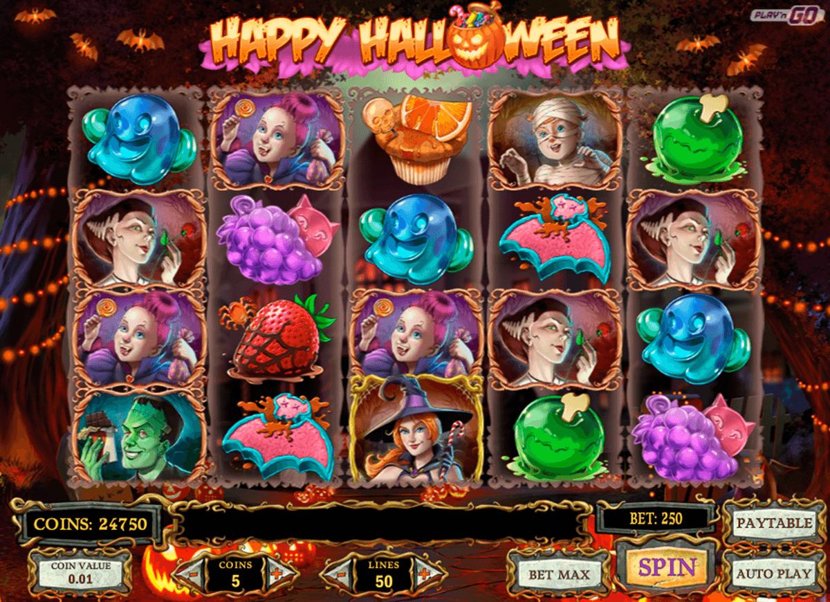 happy halloween playn go spelautomat