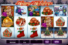 happy holidays microgaming spelautomat