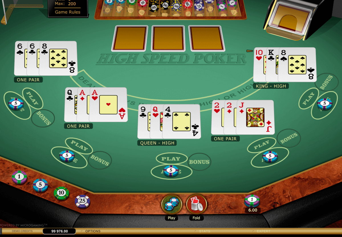 high speed poker microgaming video poker